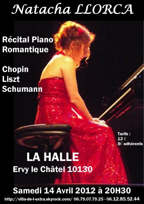 Récital piano Natacha LLORCA le samedi 14 avril 2012