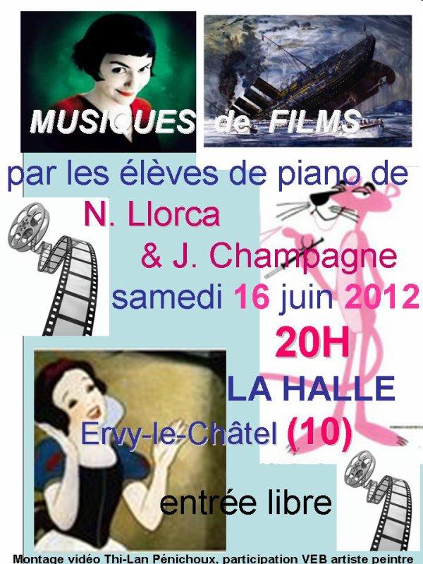 samedi 16 juin 2012, concert des élèves