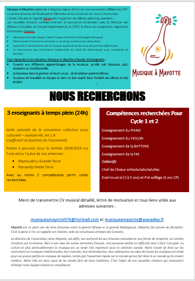 Recrutement à Mayotte