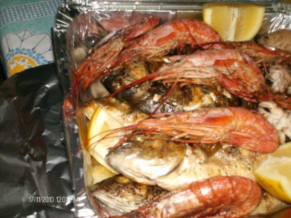 on manges  des...poissons