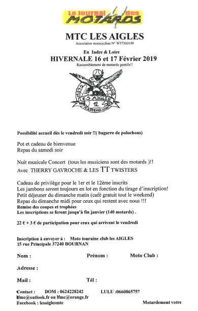 Invitation hivernale Février 2019