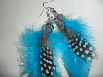 Boucles d'oreilles plumes disponibles en de nombreuses couleurs