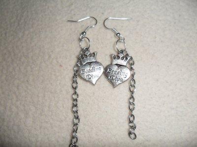 Boucles d'oreilles coeur et chaine
