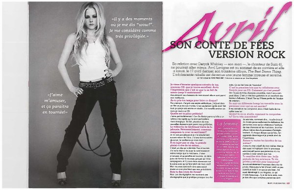Interview avec Avril Lavigne - 2007