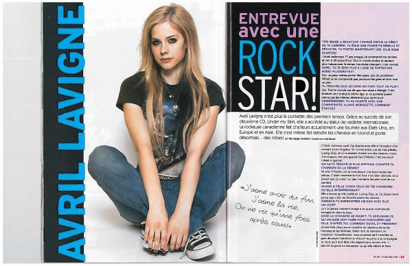 Interview avec Avril Lavigne - 2004
