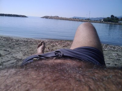 on the beach ... october 2011 :)