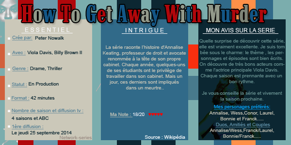 ► NETWORK-SERIES ◈ Article :  How To Get Away With Murder_________✦ Newsletter ✦ Création ✦ Décoration ✦