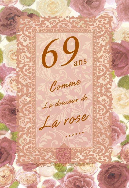 23 AOUT 2014 : 69 ans !