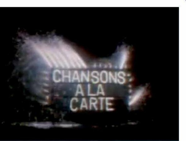 EN TV TU PRESENTES CHANSONS A LA CARTE  15 OCTOBRE 1976