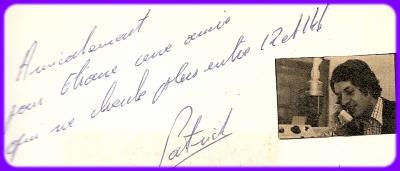 ENCORE TON ECRITURE ...LE 31 OCTOBRE 1973