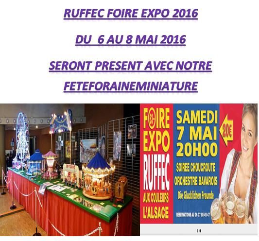 RUFFEC FOIRE EXPO DU 6 AU 8 MAI 2016 seront present