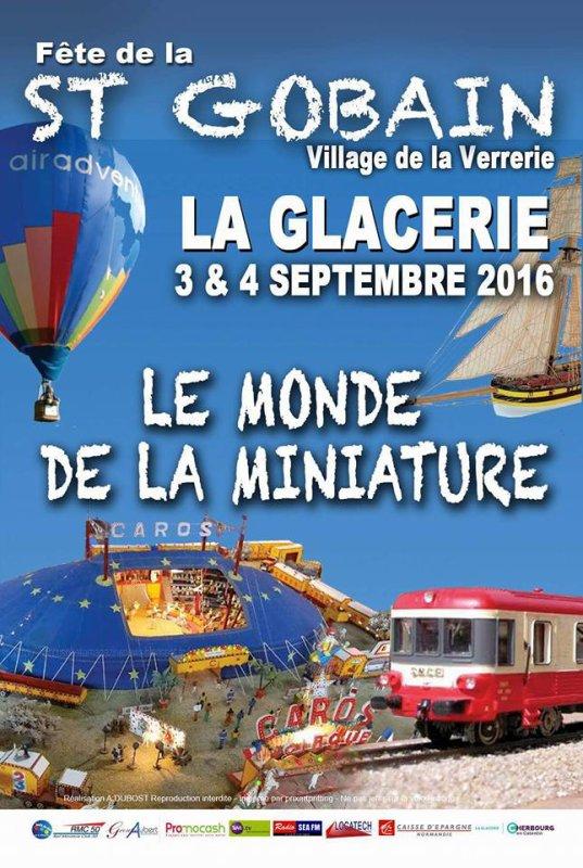 la glacerie le 3 et 4 septembre 2016  seront present avec notre feteforaineminiature
