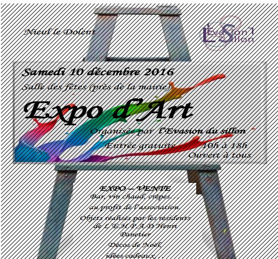 nieul le dolent  samedi 10 decembre  expo d' arts ( seront present avec notre feteforaineminiature