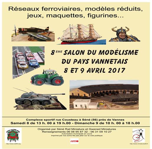 salon modelisme le 8 et 9 avril 2017 ( seront present avec notre feteforaineminiature