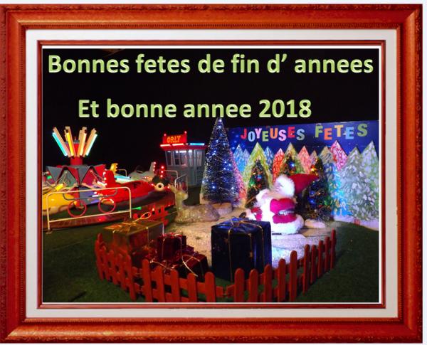 bonne fetes de fin d' annee et meilleurs voeux 2018