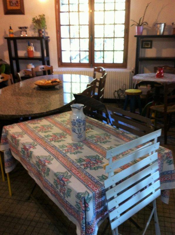 cuisine maison de caract re avec piscine barbecue. Black Bedroom Furniture Sets. Home Design Ideas