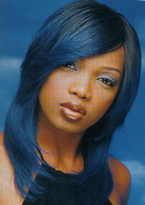 Coloration cheveux noir reflet bleu