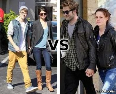 Justin Bieber & Selena Gomez VS Robert Pattinson & Kristen Stewart