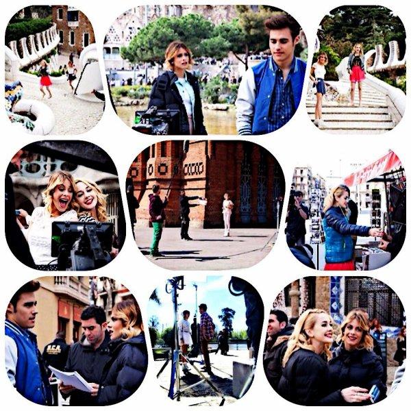 Photo tournage saison 3 ! + 2 photos de Tini d'hier !!! Et changement de ma photo profil et blog !!