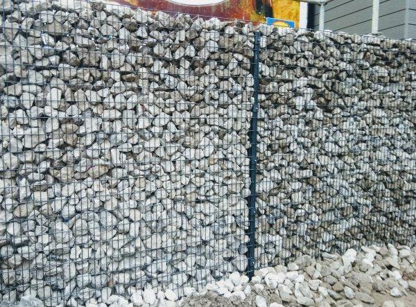 Fourniture, montage et remplissage de gabions anthracites à Ciney