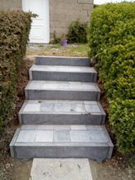 réalisation d'un escalier en pierre à naturelle