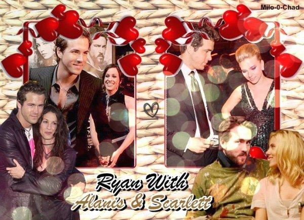 Ryan et son ex-fiancée (Alanis Morisette) et son ex-femme (Scarlett Johansson)