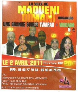 ZAZA à Paris, la diva du TWARABE apporte son soutien aux développements de Maouèni Dimani