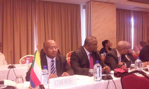 Hamada Madi Boléro en Conseil Extraordinaire des Ministres de la Défense à Victoria aux Seychelles