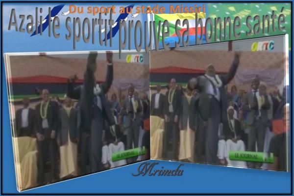 Il a dansé, il a chanté et il a fait un peu du sport au stade Missiri : Azali un candidat tout terrain