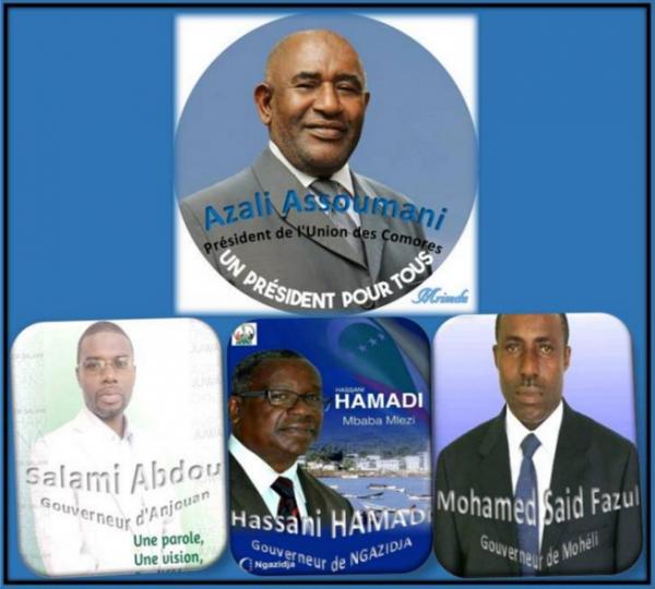 Comores : La nouvelle équipe 2016-2021
