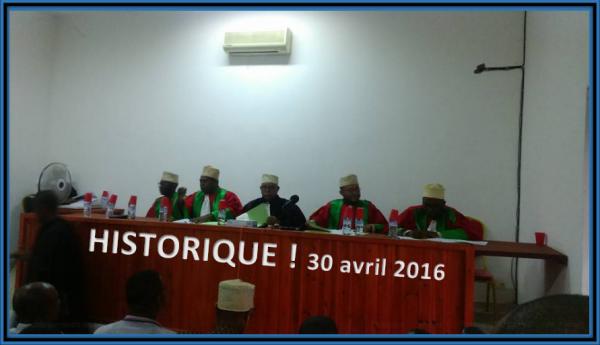 La Cour constitutionnelle a donné son verdict (30 avril 2016)