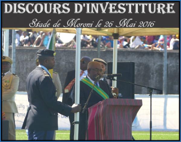 Discours d'investiture de Son Excellence Monsieur Azali Assoumani , Président de l'Union des Comores