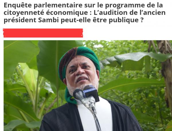L'ancien président Sambi propose l' « AS » une Audition-Spectacle pour lui