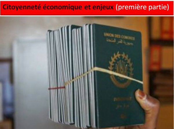 Citoyenneté économique et enjeux : la gestion du programme de la citoyenneté économique (première partie)