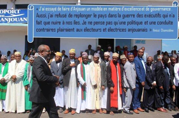 Anissi Chamsidine et son sens du devoir : « J'ai refusé de replonger le pays dans la guerre des exécutifs qui n'a fait que nuire à nos îles »