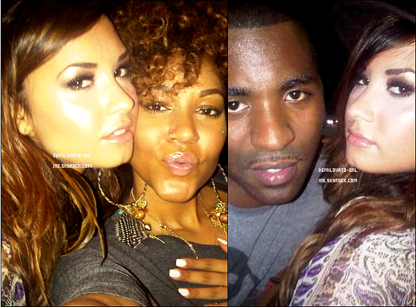 . Photos personnelles : DemiandTimbaland . 25-29/07/11 : Demi et l'équipe de Timbaland dans les studios à Miami afin d'enregistrer le duo .