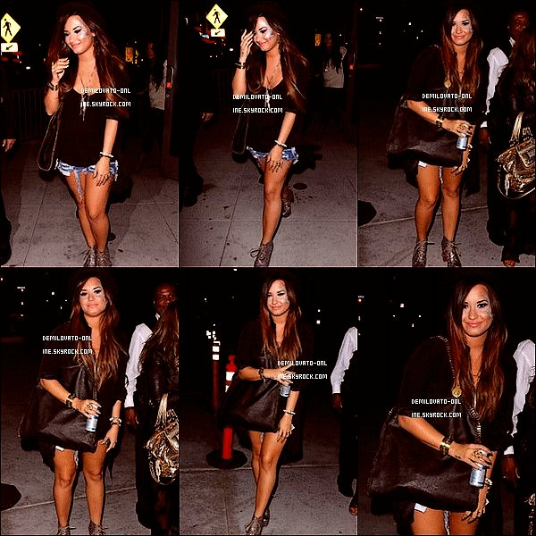. Candids : A lots of strass ! . 04/08/11 : Demi Lovato a été aperçue sortant de la salle de concert où Katy Perry se produisait à Los Angeles. Demi porte de plus en plus de paillettes sur le visage… Too much or not ?