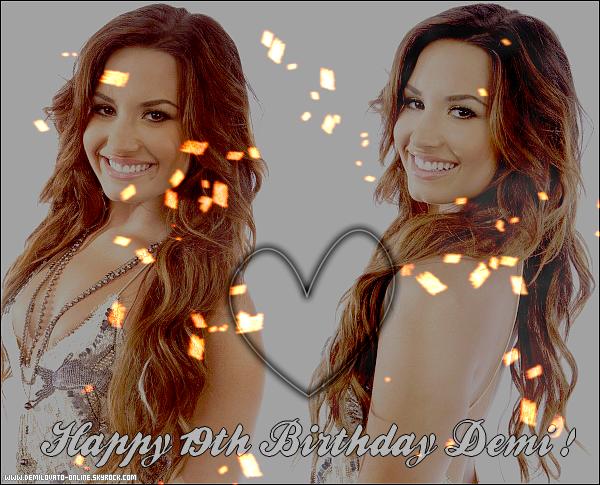 . En ce 20 août 2011, la  talentueuse Demi Lovato fête ses 19 ans ! Bon anniversaire !   .