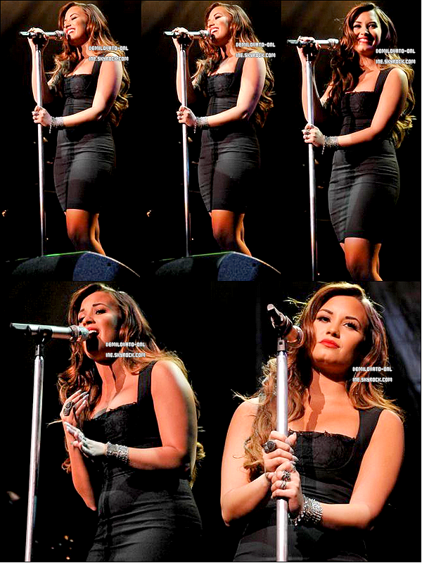 . Event : Glam'. . 27/08/11 : Demi Lovato a performé au concert de Perez Hilton « One Night In Los Angeles ».