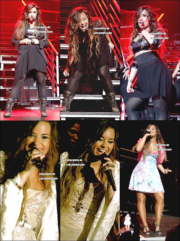 . Performance : She's back ♥  . 17/09/11 : Demi Lovato a tout donné lors de son premier concert après sa cure, hier à New York.   .