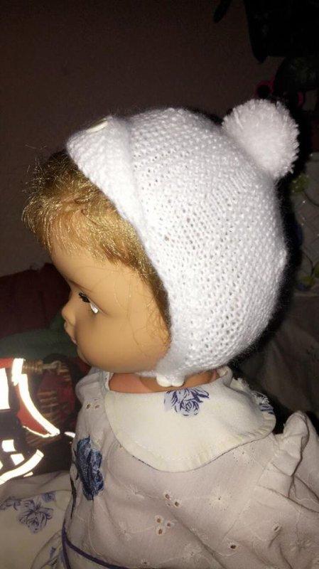 """mon dernier bonnet bébé """"aviateur Linberg"""", blanc le dernier en attendant..."""
