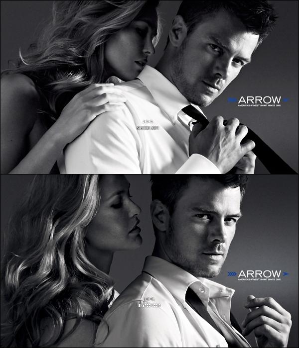 """. Découvrezun shoot pour une affiche publicitaire que Joshua Duhamel pour """"Arrow"""". ."""