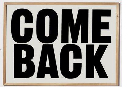 De retour !!!