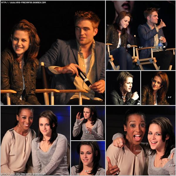 """12.06.10 Kristen , Rob et Taylor était une convention pour """" Eclipse """" . Vidéo de Kristenici"""