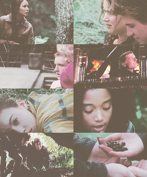 « You are here to finish me off sweetheart ? » Hunger Games.