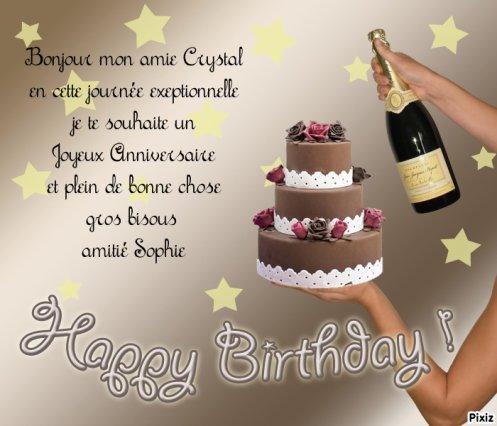 Pour Mon Amie Crystal Joyeux Anniversaire En Couple 2 Enfants
