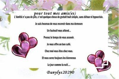 """"""" Cadeau de mon amie Danylys20290 pour ses amis es """""""