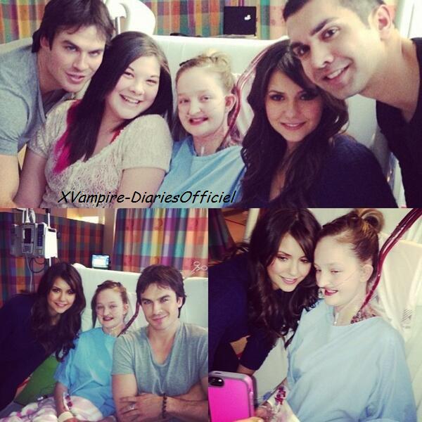 """Info Perso:Nina & Ian sont allés rendre visite à Kayla une adolescente en attente d'une greffe de poumons hospitalisée au """"Hospital for Sick Children"""" un hopital de maladie enfantine à Toronto au Canada"""