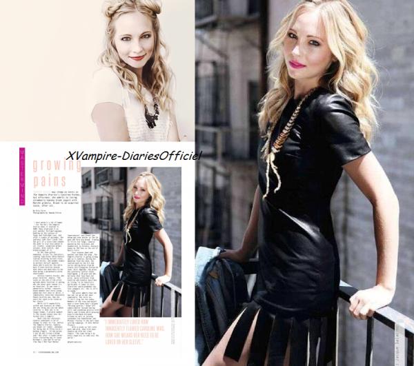 Info Actu: Candice Accola dans Status Magazine