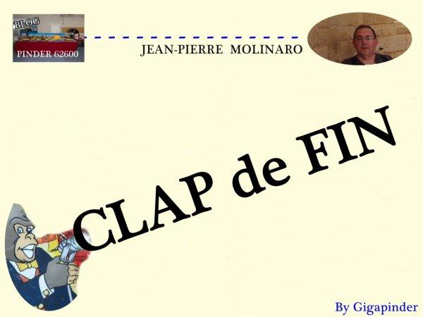 PLEIN FEUX  SUR JEAN-PIERRE MOLINARO  .. CLAP de FIN